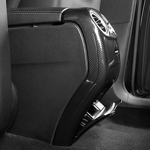 Image 2 - Carbon Fiber Auto Hinten Air Conditioner Outlet Vent Abdeckung Trim Für Mercedes E Klasse E200 E320 E260 E300 E350 Auto zubehör