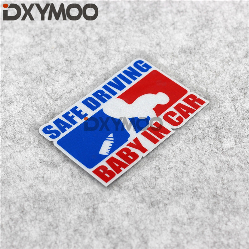 Creative Car Window Warning Stickers SAFE DRIVING BABY IN CAR Decals 12x8cm