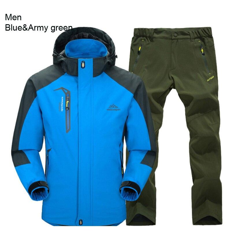 men blue army green