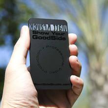 Dilsiz siyah metal kart siyah metal kartvizit yaratıcı üretim yüksek dereceli metal üyelik kartı kartvizit