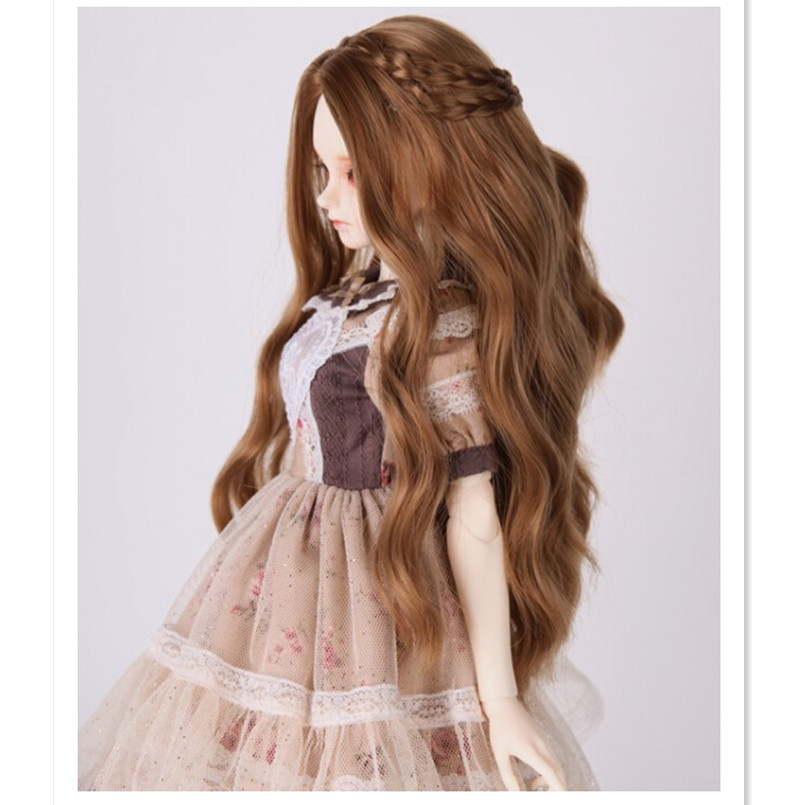 1/4 SD BJD Doll Wis High Temperature Wire Long Wavy BJD Super Dollfile Hair for Dolls,Hot BJD Wig Fashion Doll Acceessories new 1 4 8 9 inch bjd wig short hair doll diy high temperature wire for 1 4 msd bjd sd dollfie