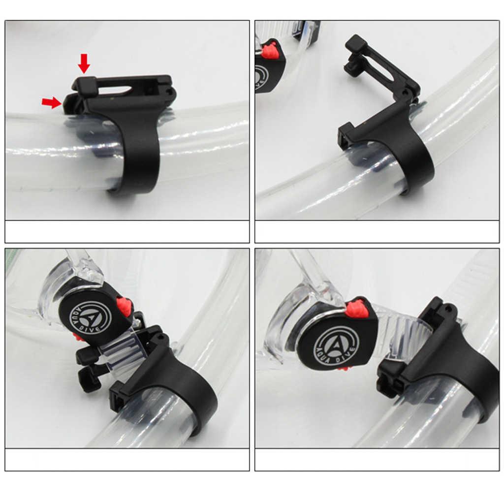 """Universele Plastic Clip Snorkel Masker Keeper Houder Retainer Voor Duiken en Snorkelen Zwart Plastic 25mm/1"""""""