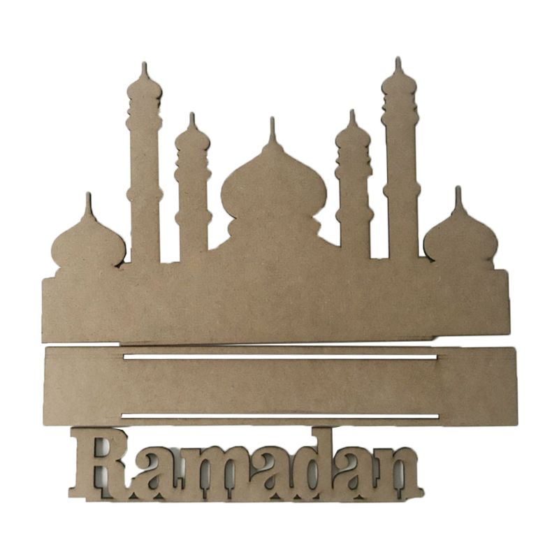 Wooden MDF Eid Mubarak Ramadan Home Party Decoration Ornament Festival Muslim Islamic Gifts