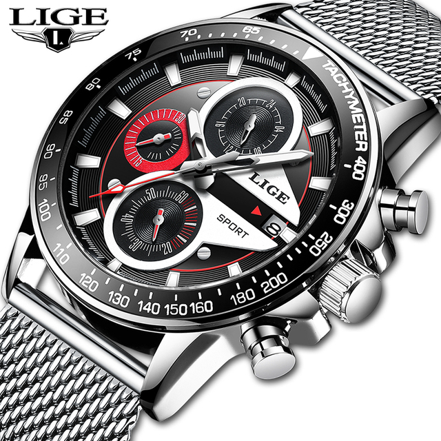 Fashion Stainless Steel Chronograph Watch