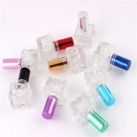 XYZ Stylish 8ml Unique Mini Glass Perfume Bottle Sprayable Refillable Perfume Bottle Atomizer