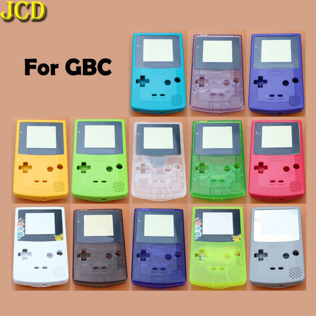 JCD 1pcs Housing Shell Cover for Nintend GameBoy Color for GBC Housing Case Pack
