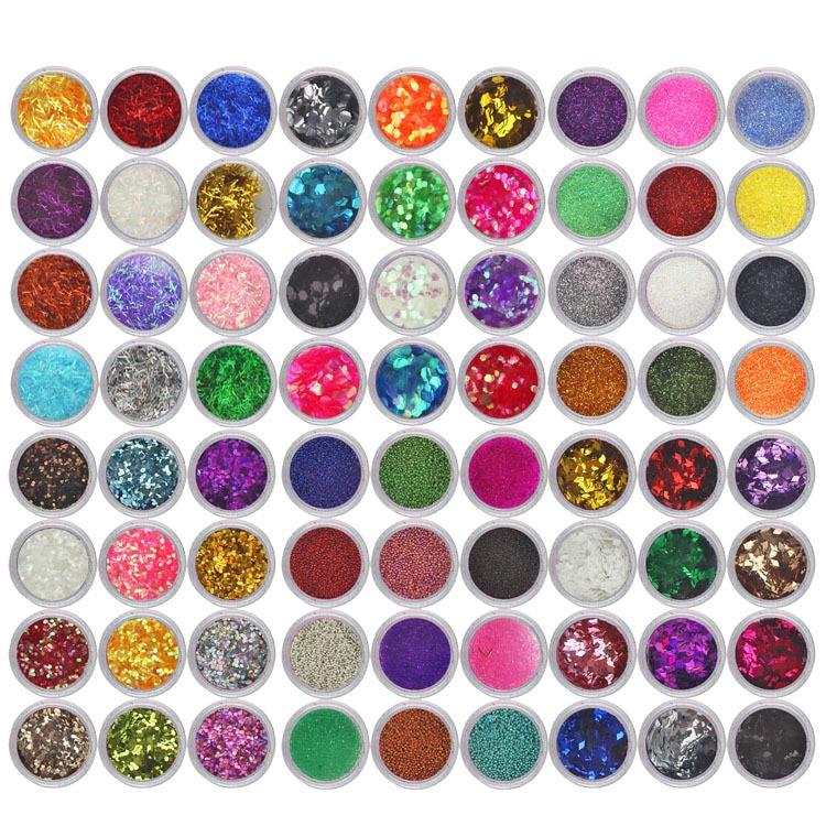 Nails Art & Werkzeuge Zielstrebig 72 Boxen 72 Farben Starry Holographische Laser Nagel Glitter Pulver Ultra-dünne Pailletten Pigment Staub Pulver Maniküre Nail Art Glitters