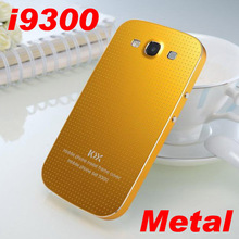 For Samsung Galaxy S3 i9300 Real metal battery cover Original brand steel Aluminium back case fashion border 2014 new 10 color