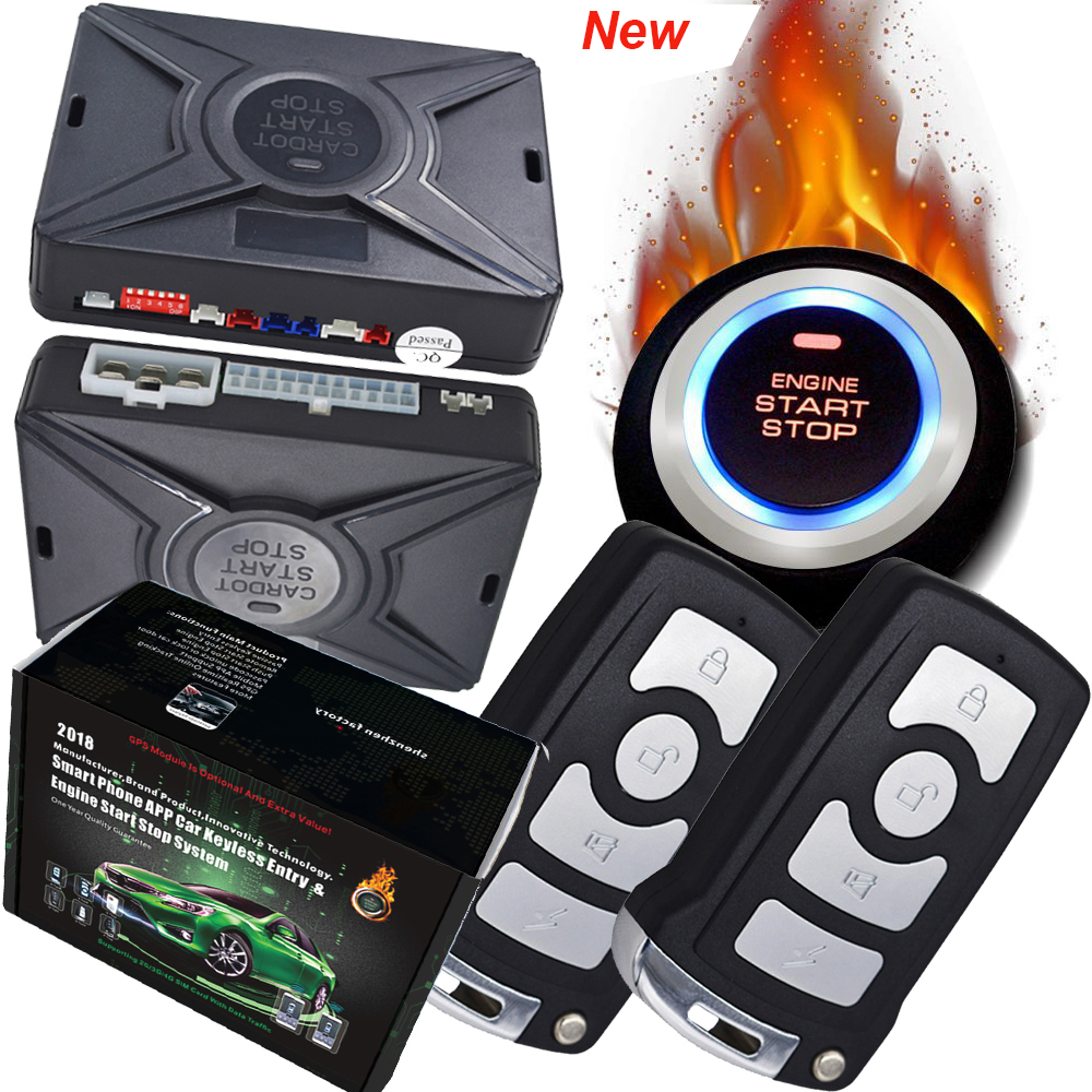 Cardot Новый смарт-ключ кнопка запуска двигателя или кнопка остановки звука и режим отключения звука функция автоматического запуска останов...