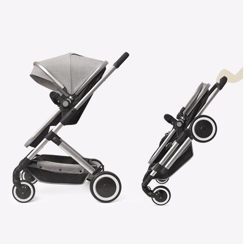 7.9KG Luxury Baby Stroller Bassinet Folding Carriages Pram Car for newborn Brand High Landscape Baby Trolley orbit baby люлька колыбель orbit baby g3 bassinet
