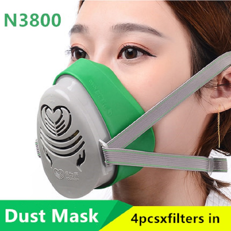 Mouth Face Half Mask Safety Anti-Dust Respirator KN90 Filters Protective Paint Spray Industrial Light Dust Masks