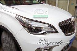 New Arrival darmowa wysyłka z przodu głowy światła pokrywa tapicerka dla Buick ENVISION 2015|Chromowane wykończenia|Samochody i motocykle -