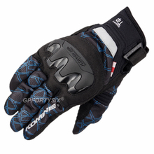2019 New Komine Carbon Fiber Motorcycle Gloves Summer Mesh Breathable Motocross Gloves Touch Screen Gant Moto M XXL