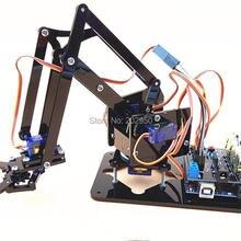 1 Набор акриловая механика ручка робот 4 DOF Arm создан Обучающий набор 4DOF DIY робот рука робот коготь Обучающий набор для Arduino
