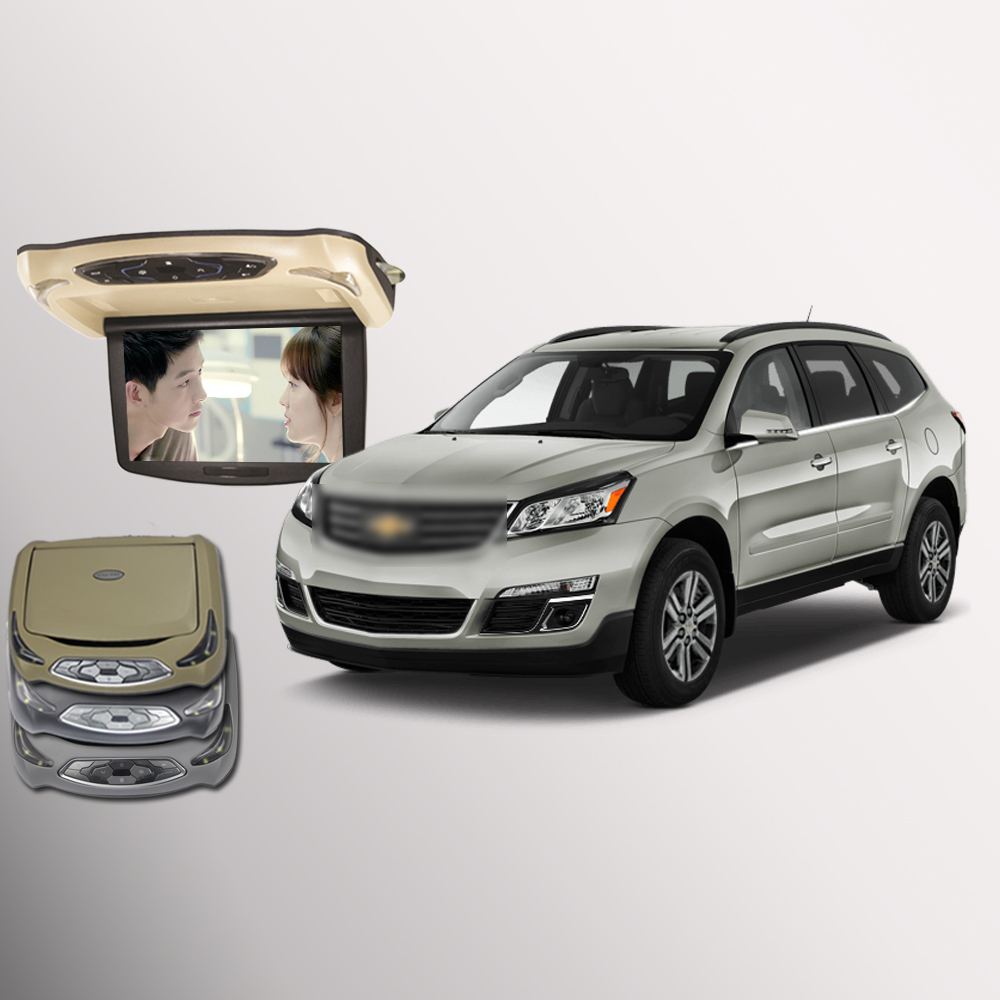 Bigbigroad for chevrolet traverse car roof mounted in car led digital screen support hdmi usb fm