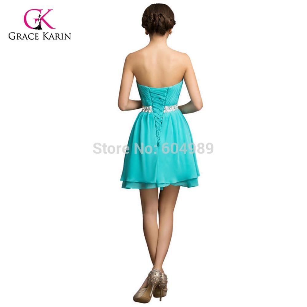 Grace Karin Plus Size Short Prom dresses 2018 Turquoise Mini Dinner ...