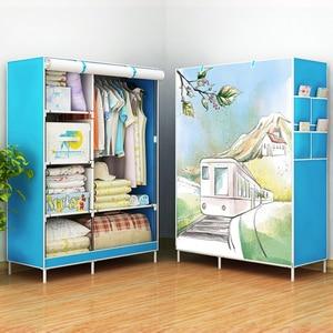 Image 2 - Actionclub armario de tela no tejida, armario de tela plegable, gran estante de almacenamiento, muebles de dormitorio