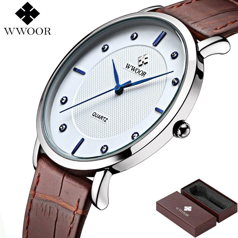 WWOOR Merk Luxe Herenhorloges Waterdicht Ultradun Eenvoudig Quartz - Herenhorloges - Foto 2