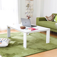 Folding Kotatsu Table Top Reversible White/Yellow Japanese Style Coffee Table Legs Foldable Living Room Furniture Low Table