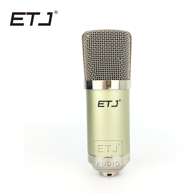 ETJ Brand Professional Condenser Microphone Karaoke Studio Recording Metal Microphone