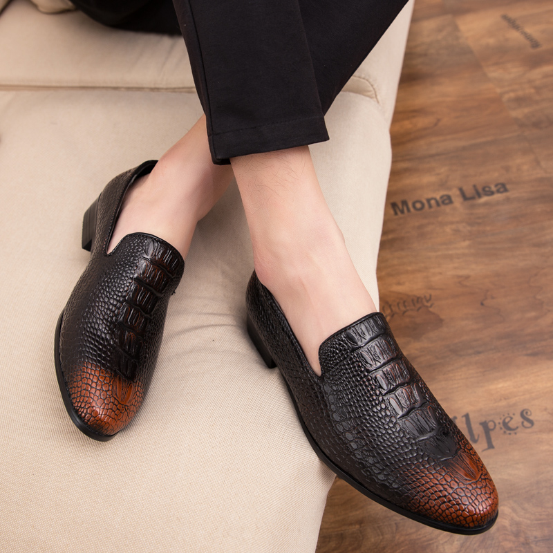 Men Loafers Shoes Fashion Slip On Leather Loafers Casual Driving Shoes Men Dress Shoes Breathable Men's Flats Moccasins Shoes K3
