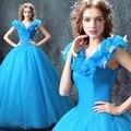Cinderela azul quinceanera vestidos vestidos de 15 vestido de 15 anos vestidos de quinceanera debutante vestidos quinceanera barato