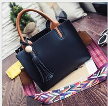 2016  leather shoulder  bag  with rainbow belts crossbody   bag  brand luxury design