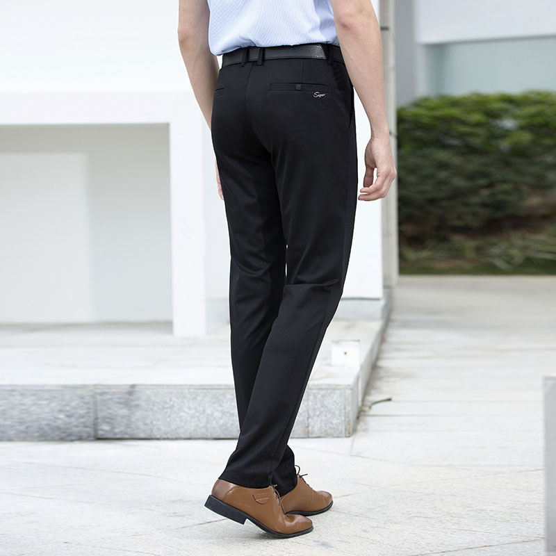 ceb1779a0649 Anbican Brand Office Work Black Dress Pants Men Spring Summer Smart Casual  Chino Pants Male Slim Fit Long Trousers-in Casual Pants from Men s Clothing  on ...