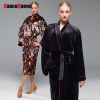 Hot Selling Latin Dancing Robes Costumes For Male/Lady Black Red Blue Colors Wears Men/Women Ballroom Dance Coats Fashions 15043
