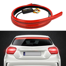 1Pcs Led Brake Lights Car 90cm LED Flexible Strip Warning Signal Light Safety Driving In Auto High Mount Stop Lamp