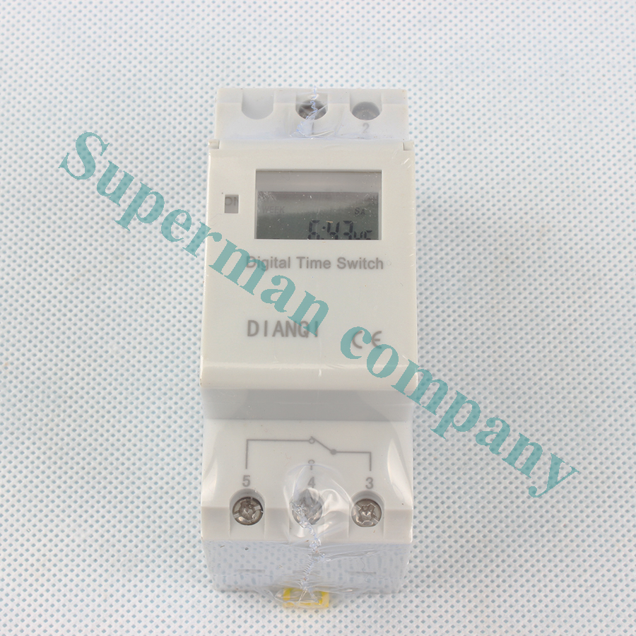 Tp8a16 Microcomputer Electronic Programmable Digital LCD TIMER SWITCH 220V 110V 48V 24V 12V Timer Relay Control Din Rail Timer intelligent digital electronic programmable timer thc15a ahc15a microcomputer time switch relay din rail ac dc 12v 24v 110v 220v
