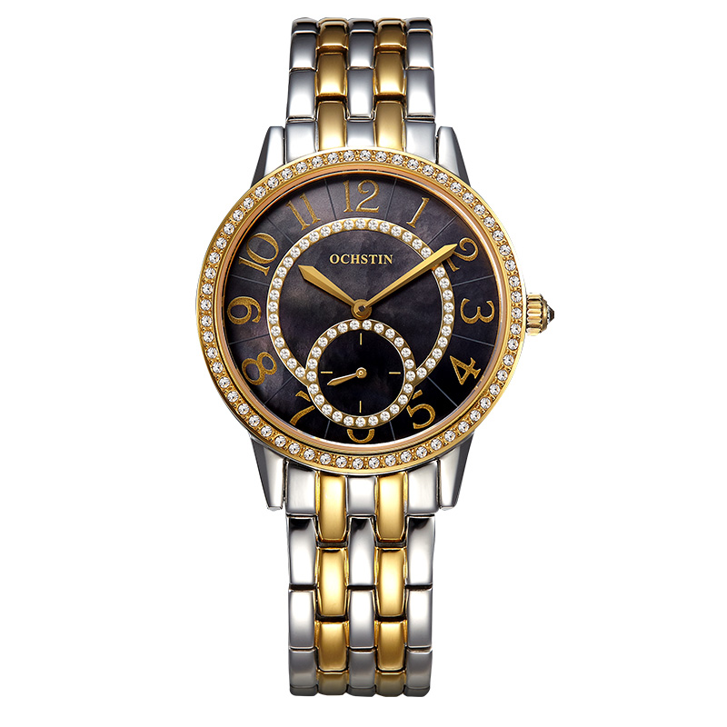ФОТО Pearl Watches For Women Gold Casual Pearl Ladies Dress Wristwatch Luxury Crystal Quartz Watch Ladies