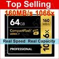 Marca 1066x64 GB Tarjeta CF UDMA 7 PRO Compact Flash de Memoria tarjeta para canon nikon slr cámara de la videocámara dv envío libre al por mayor