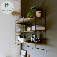 Модный настенный стеллаж в стиле Луи, железный арт ТВ, украшение для гостиной, креативная перегородка, подвесная книжная полка для спальни