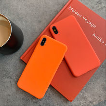 Cute Bright Orange Color Cases For Huawei Nova 4 4e 3 3i 3e P30 P20 Mate 10 20 Lite Pro Honor 8 8X 8A 10 V20 Lite MAX P Smart(China)
