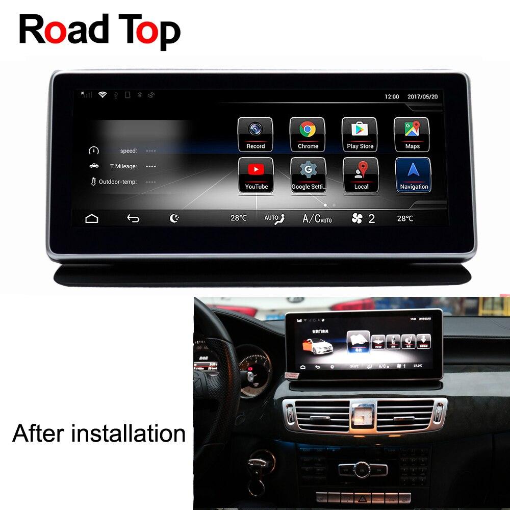 Android 7.1 Octa 8-Core 2 + 32g Auto Radio Unità di Testa di Navigazione di GPS WiFi Bluetooth Dello Schermo per mercedes Benz CLS W218 2011-2013