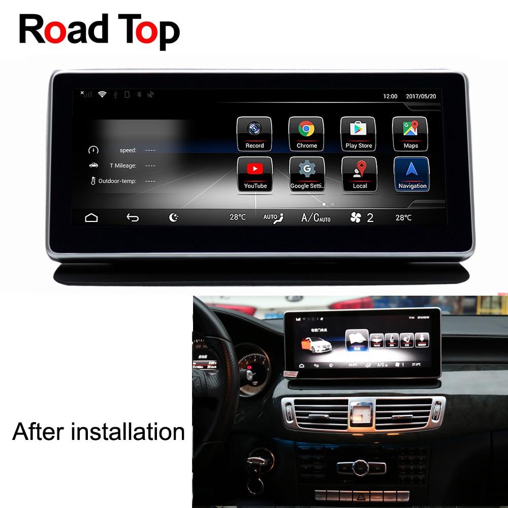 Android 7.1 Octa 8-Core 2 + 32g Autoradio GPS Navigation WiFi Bluetooth Tête Unité Écran pour mercedes Benz CLS W218 2011-2013