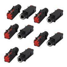 Thgs аудио 6.35 мм 1/4 дюйма 3pin моно Джек Панель крепления PCB Инструменты для наращивания волос 10 шт.
