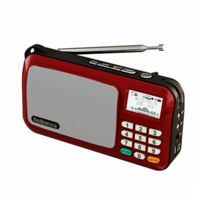 Portable radio lyrics display card mini speaker Клаус Walkman спикер литий-Музыкальный Автомат