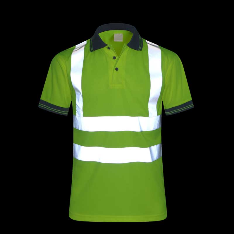CCGK Safety Clothing Reflective High Visibility Workwear tshirt Short Sleeve Fluorescent Yellow Working Tops Tee Quick Drying fluorescence yellow high visibility