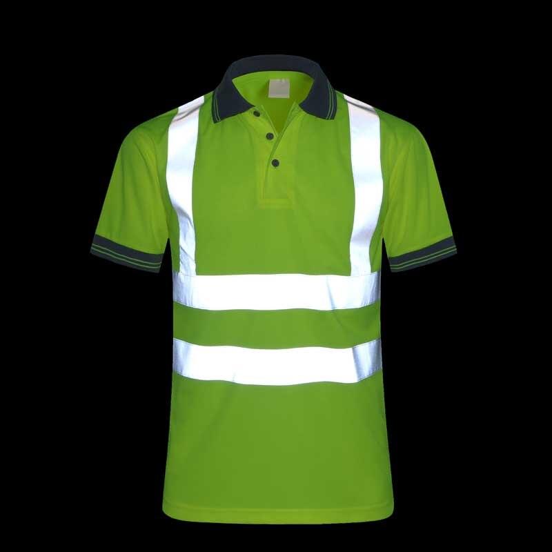 bilder für CCGK Sicherheitskleidung Reflektierende Hohe Sichtbarkeit Arbeitskleidung t-shirt Kurzarm Fluoreszierende Gelbe Arbeits Tops T Schnell Trocknend