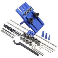 Công cụ chế biến gỗ, DIY Chế Biến Gỗ Mộng Độ Chính Xác Cao Dowel Jigs Kit, 3 trong 1 Khoan định vị, 08450A khoan guide kit