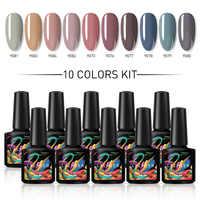 Lacheer 10ML UV Gel Polish DIY gel nail polish Need Nail dryer Varnish Soak Off Nail Art Manicure Nail Art Gel Black Base Coat