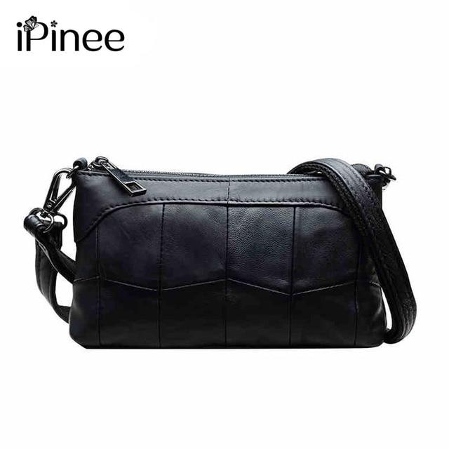 Ipinee Brand Genuine Leather Clutch Bag Small Soft Handbag Women Fashion Cross Body Las
