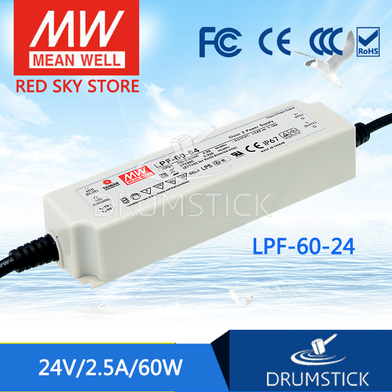 Hot sale MEAN WELL LPF-60-24 24V 2.5A meanwell LPF-60 24V 60W Single Output LED Switching Power Supply