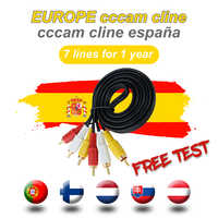 Best cccam cline free for 1 year Spain Europe 7lines Satellite tv Receiver Portugal Poland Italy Spain cccam cline server hd