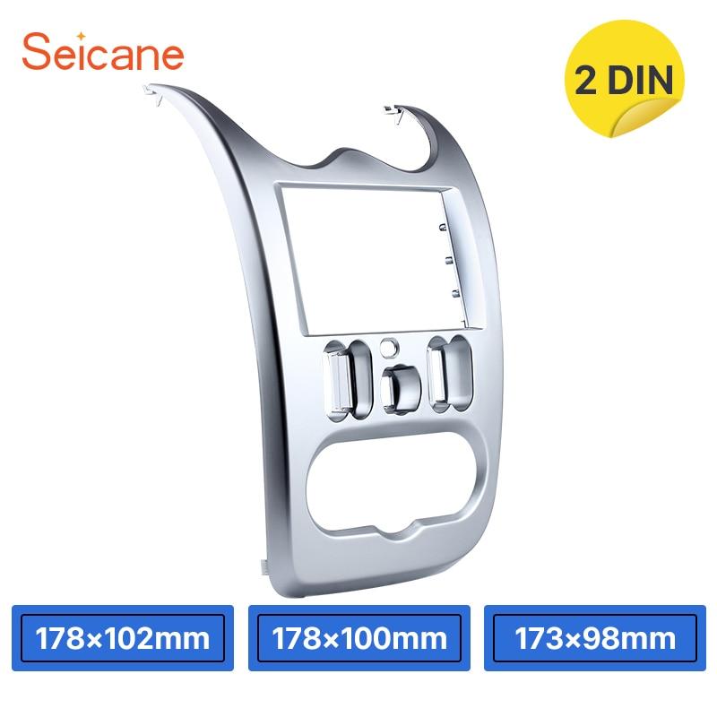 Seicane Double Din 173*98mm Car Stereo Fascia for 2010 2011 2012 2013 RENAULT LOGAN Dash Bezel Kit surround DVD panel Cover Trim все цены