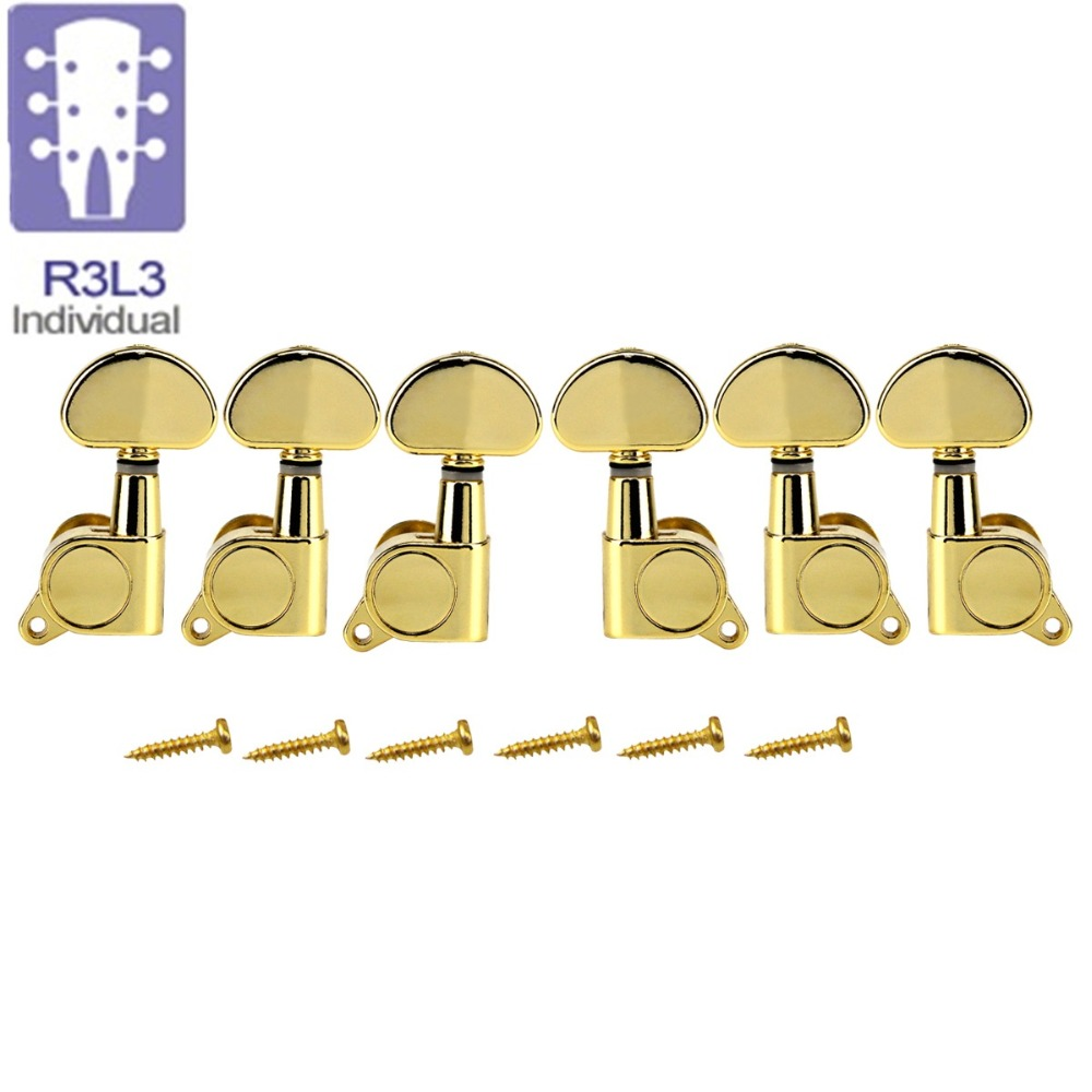 NEW 3L3R Acoustic Electric Guitar Machine Heads Guitar Tuning Pegs Keys Tuners Gold Gear Ratio 15