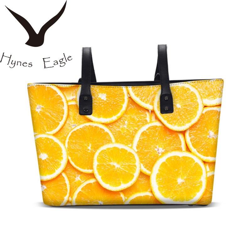 Hynes Eagle Women s Casual Tote Handbag Fashion 3D Printing Floral PU Leather Messenger Shoulder Bag