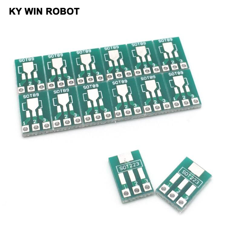100pcs SOT89 To DIP SOT223 To DIP Adapter Board Transfer Plate Pinboard 1.5mm Pitch Pin Sp